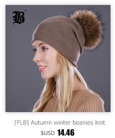 [FLB] Wholesale Real Mink Fur Pom Poms Knitted Hat Ball Beanies Winter Hat For Women Girl 'S Wool Hat Cotton Skullies Female Cap 22