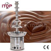 Hohe Qualität ITOP 7 Schichten Schokolade Brunnen Kommerziellen Schokolade Wasserfall Maschine Mit Voller Edelstahl