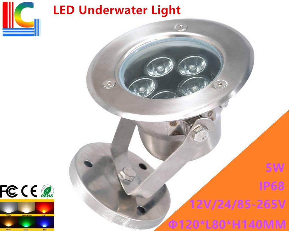 100% Quality 5w Led Underwater Light 12v 110v 220v Rotary Underwater Floodlight Ip68 Waterproof Outdoor Spotlight Pond Lamp 2pcs/lot Strong Resistance To Heat And Hard Wearing Lights & Lighting