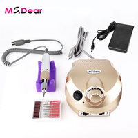 Golden Electric File Bit Machine For Nail Drill Manicure Pedicure Kit Pro Salon Home Nail