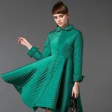Winter Coat Women Woolen Overcoat Casua swing cotton coat elegant long jackets 2015 Free shipping
