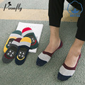 Summer Socks Man Invisible socks slippers Asakuchi All-match Non-slip Sweat Spelling Color Male Socks
