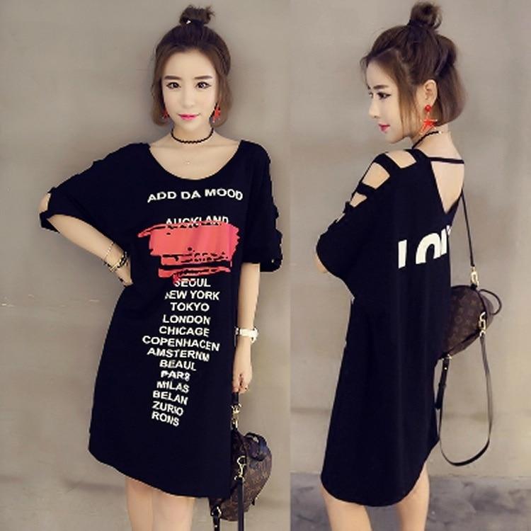 Plus velikost ženske majice s kratkimi luknjami za ženske - Ženska oblačila - Fotografija 1