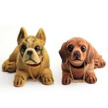 Head Dog Car Dashboard Doll Auto Shaking Toy Ornaments Nodding Interior Furnishings Decoration Gift