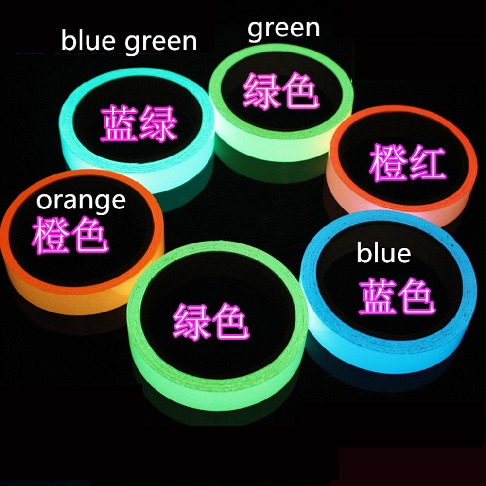 5cm longth 5m Luminous Tape Self-adhesive Warning Tape Night Vision Glow Safety Security полка для авто ashtray led 4s