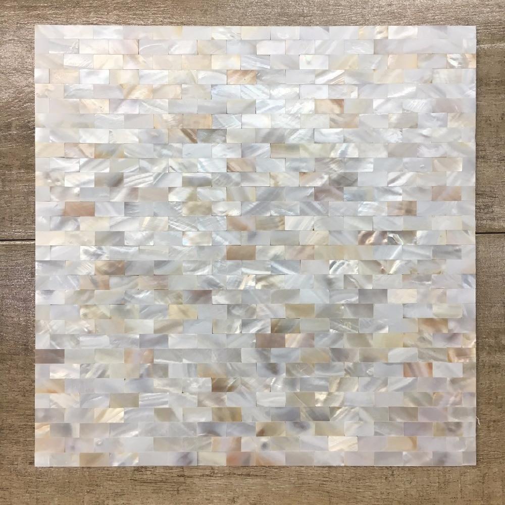bianco naturale mattonelle di mosaico delle coperture per lavabo cucina tv decorazione della parete backgplash madreperla