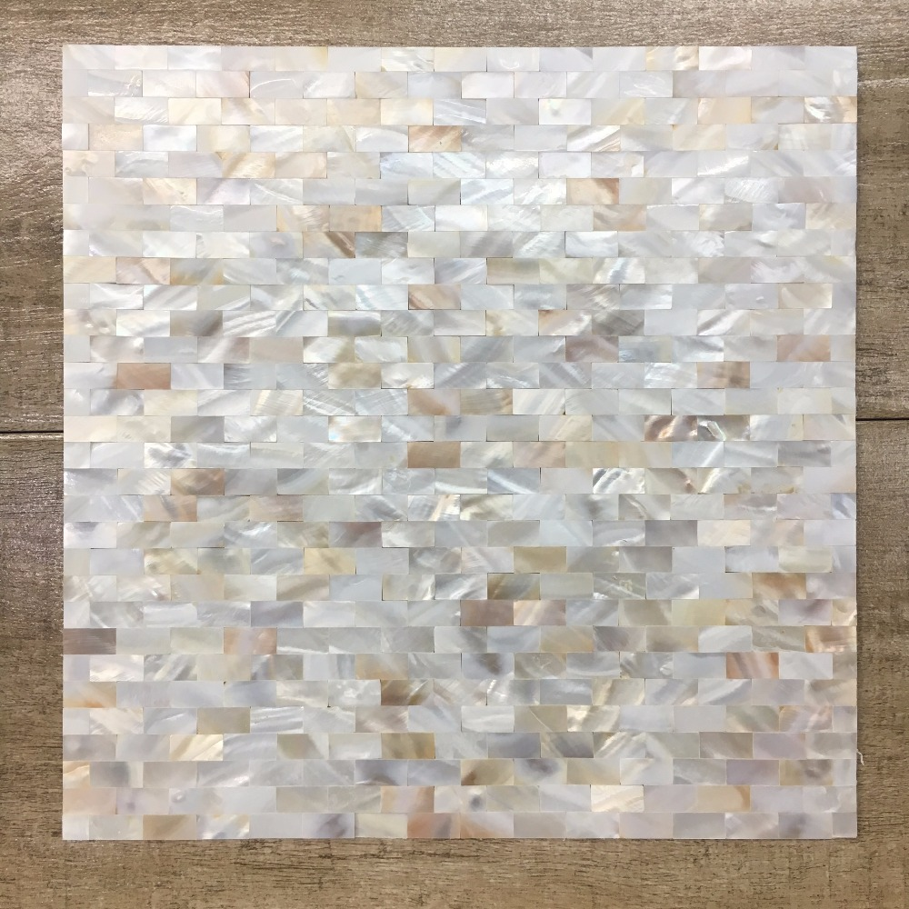 Mother of Pearl Natural Shell Mosaic tiles for Kitchen backsplash Bathroom Shower Surrounding Home Waistline DIY sticker,LSBK10 rhombus sea shell mosaic tiles mother of pearl seamless natural shell color kitchen bathroom wall mosaics tile free shipping