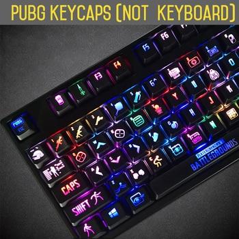 PUBG keycaps Backlight PLAYERUNKNOWNS BATTLEGROUNDS Mechanical Keyboard 108 Keys ANSI Thickened Edition Key cap For Cherry mx