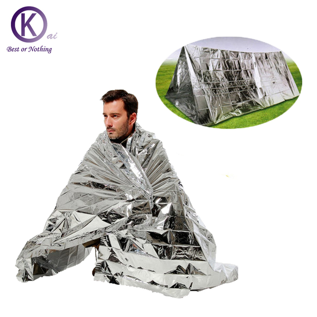 Outdoor Emergency Blanket  Windproof Waterproof First Aid Outdoor accessory use as a blanket shelter helping signal