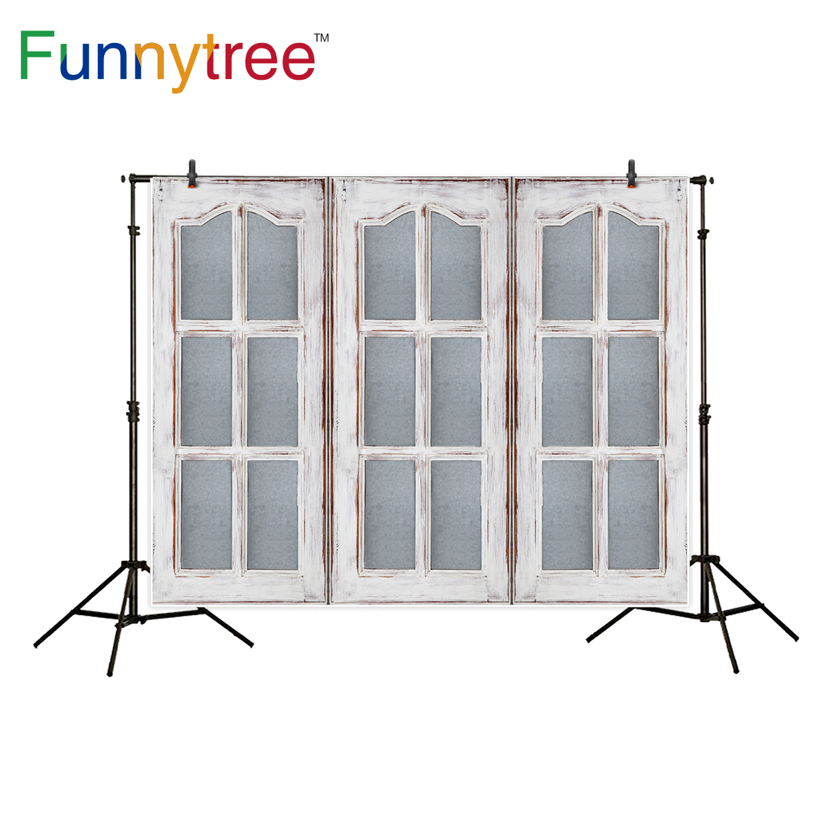 Funnytree photography backdrop wood window vintage decoration background photo studio photocall new photo prop