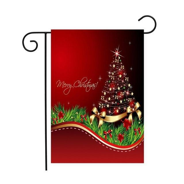 merry christmas tree christmas house flag winter seasonal banner100 polyester
