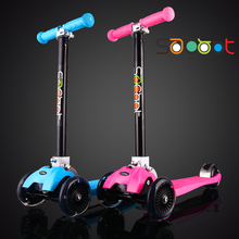 Swiss genuine folding fast high sacoot children scooter three wheel scooter 4 four wheel flash 2-12 years old