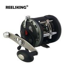 REELSKING Max Drag 20 кг барабанная катушка правая рука Pesca круглая baitcasing катушка с высоким передаточным соотношением морская Рыболовная катушка