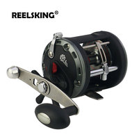 REELSKING Max Drag 20kg Drum reel Right Hand Pesca Round Baitcasting Reel High Gear Ratio sea fishing reel