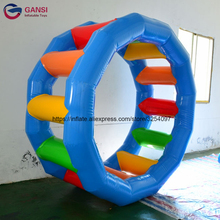 Portable 0.9mm pvc inflatable water play roller wheel ,Water park games rental inflatable water treadmill inflatable biggors large outdoor sports games inflatable haunted maze inflatable maze for rental