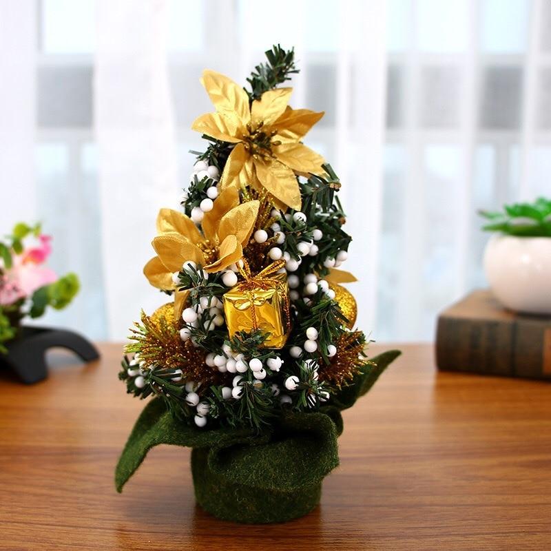 Xmas Ornament 20cm Small Table Desk Mini Christmas Tree ...