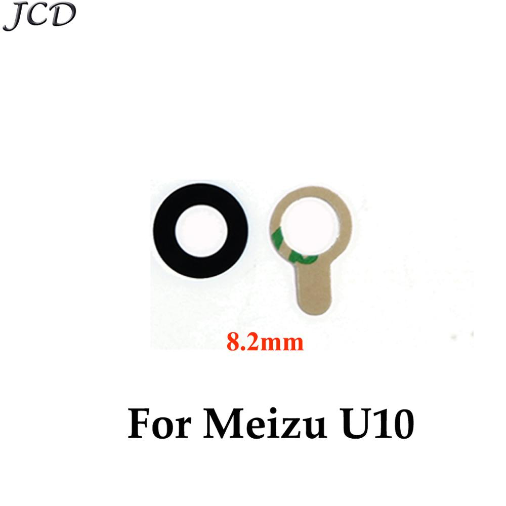 JCD 2pcs/lot Back Rear Camera Glass Lens For MEIZU U10 U20 Rear Camera Lens Housing Parts Replacement