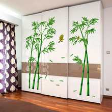 2 Pcs 60*90CM Wall Sticker PVC Bamboo Pattern DIY Decal Mural Art Removable Stickers For Living Room Bathroom Home Decor WXV Sal