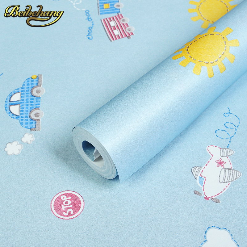 beibehang Cartoon Aircraft Car Child Vinyl Wall paper roll papel de parede para mural 3d wallpaper for living room papel contact цена 2017
