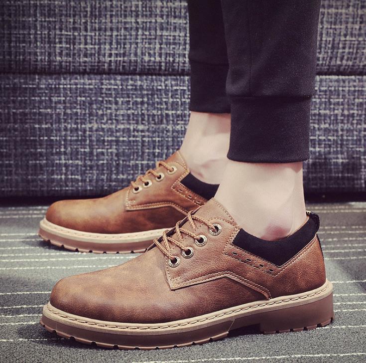 Autumn new Bangbu Mens Korean trend high canvas shoes British casual Martin boots mens tide shoes men ...