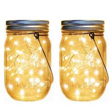 1 комплект, 120LED банка на солнечной батарее, светильник-Гирлянда для украшения сада, водонепроницаемый светильник для свадебной вечеринки, новогодний Сказочный светильник