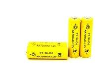 New 4 pcs/set AA battery 1.2v 700mah rechargeable battery for Led flashlight batery battery Wholesale