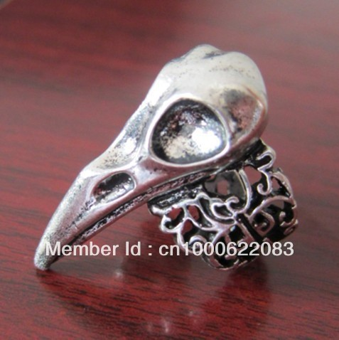 Hot Fashion Crow Nest Bird Skull Ring