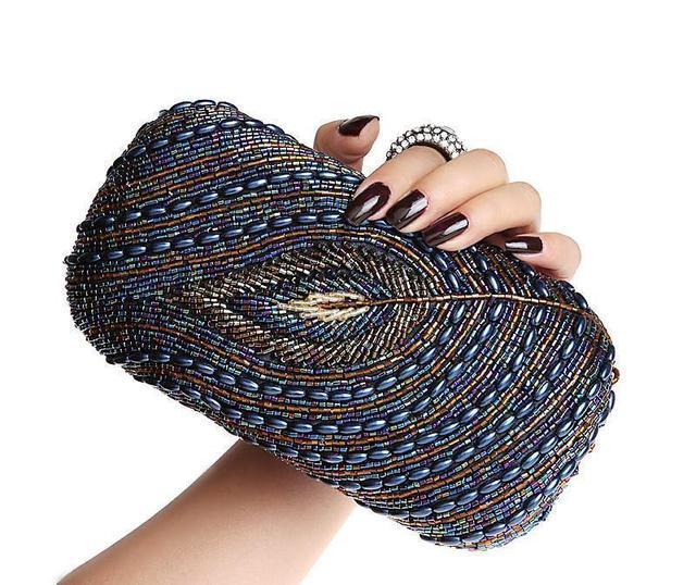 2017 latest ring diamond peacock pattern party evening bags,Fashion noble princess handbags,hot sale ladies clutch,women bag