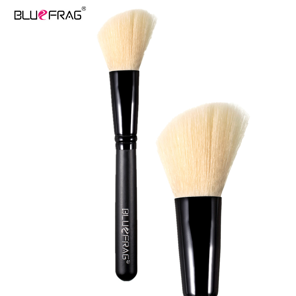 BLUEFRAG Hoek bloos borstel synthetisch haar merk make-up borstel - Make-up