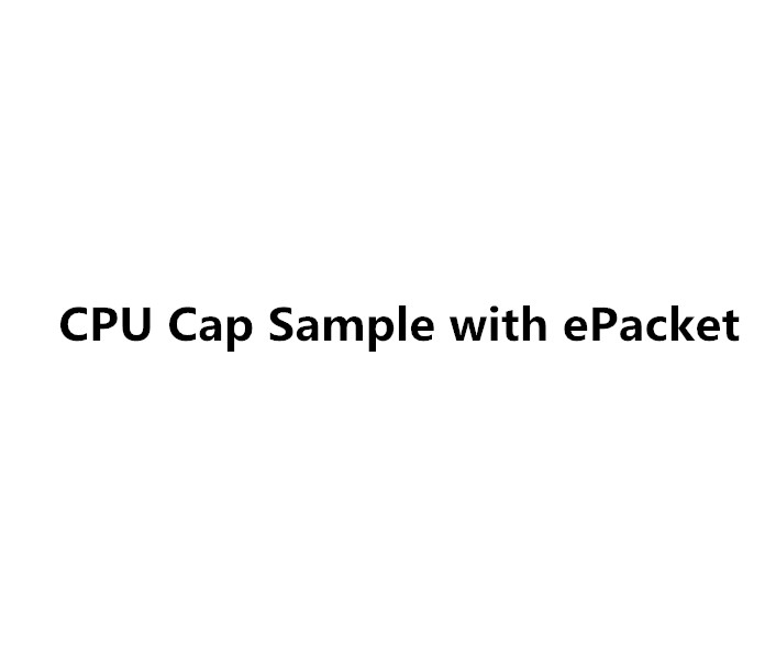 CPU Cap sample with ePacket for Nikita Skakun
