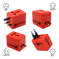 Universal Travel Charger Adapter Electric Plugs Sockets Converter US AU UK EU With Dual USB Charging