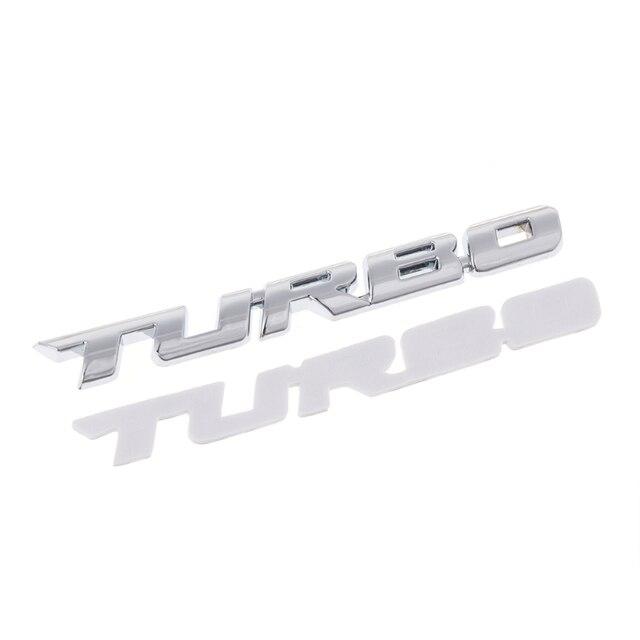 3D Turbo Carta Emblema Emblema do Metal Etiqueta Chrome Para Truck Car Motor Decalque