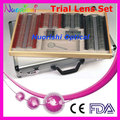 266AL-JSC 268pcs High Classic Trial Lens Set Color Metal Rim Aluminum Case Packed Lowest Shipping Costs !