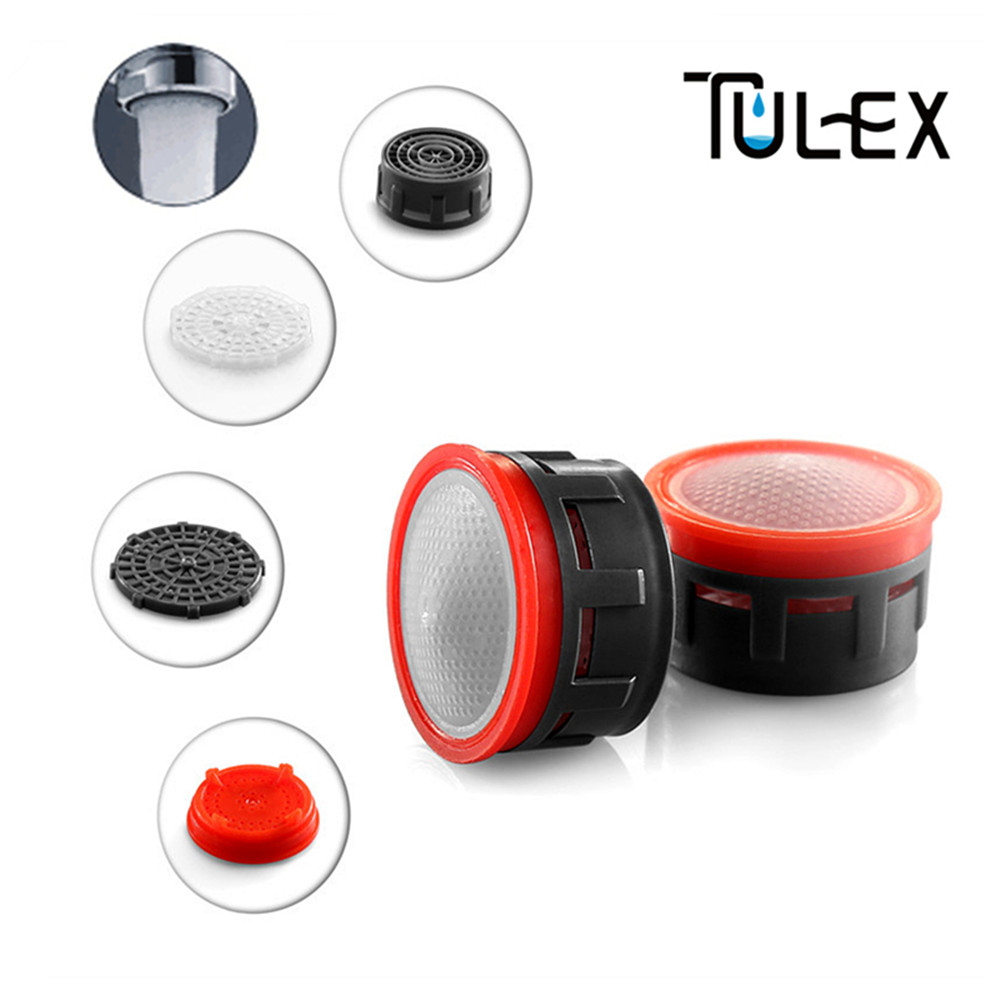 TULEX Water Saving Faucet Aerator 4L/Minute 24mm/22mm  Spout Bubbler Filter Accessories Core Part Attachment For Crane