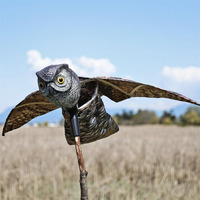 1PCs Large Realistic Simulation Lifelike Flying Owl With Wings For HOME Garden Decor Ornament Pest Control
