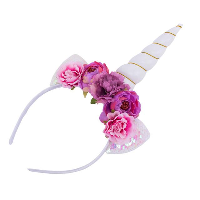Tienda Online Brillo metálico oro/plata cuerno con flores aro del ...