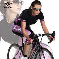 Santic Femmes Pro Cycling Jersey D'été Respirant À Séchage Rapide DH VTT Vélo De Route Vélo Maillot Roupa Ciclismo Cyclisme Vêtements
