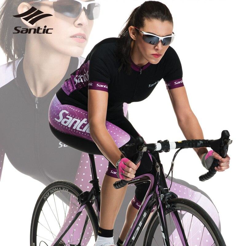 Santic femmes Pro maillot de cyclisme été respirant séchage rapide DH vtt vélo de route vélo maillot Roupa Ciclismo vêtements de cyclisme