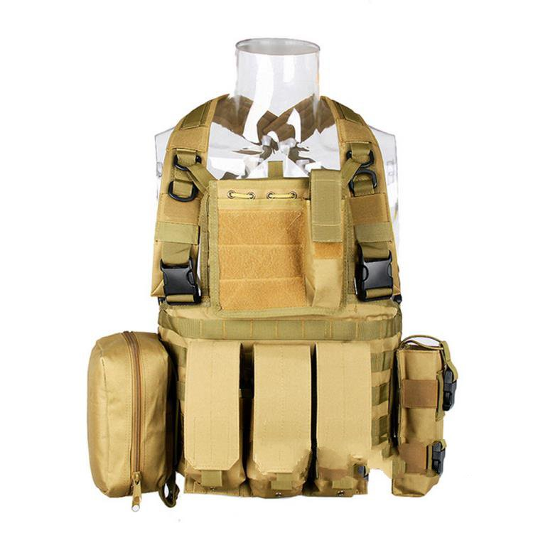 Multi-functional stomachers detective tactical vest outdoor CS field protection equipment special forces combat vest transformers tactical vest airsoft paintball vest body armor training cs field protection equipment tactical gear the housing