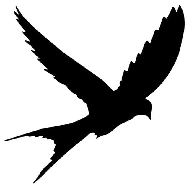 152151cm cute bird silhouette vinyl car sticker and