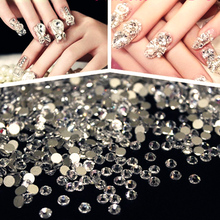 2028NoHF SS6 Clear 1440Pcs New Crystal Pixie For Transparent Crystal Clear 3D Nail Art Rhinestones DIY Decoration