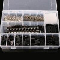 1450Pcs Set 2 54mm Dupont Connector Kit PCB Headers Male Female Pins Electronics D23 Dropship
