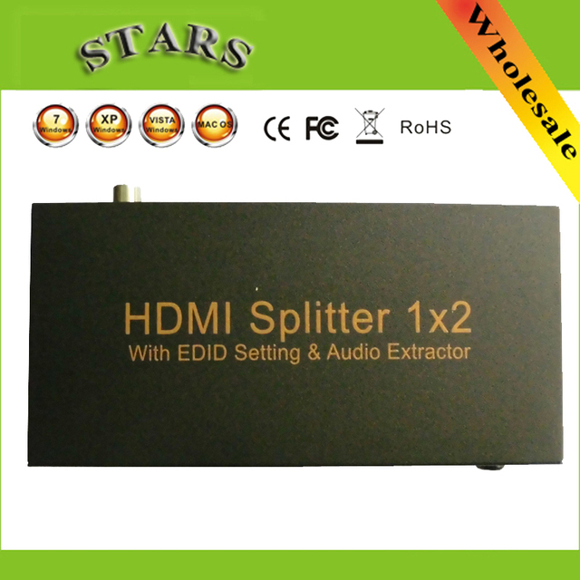 1x2 hdmi splitter 1x2 Port HDMI Splitter 1 in 2 out With EDID Setting ARC Audio Extractor Supports MHL/ HDMI 1.4 / 3D / 1080p