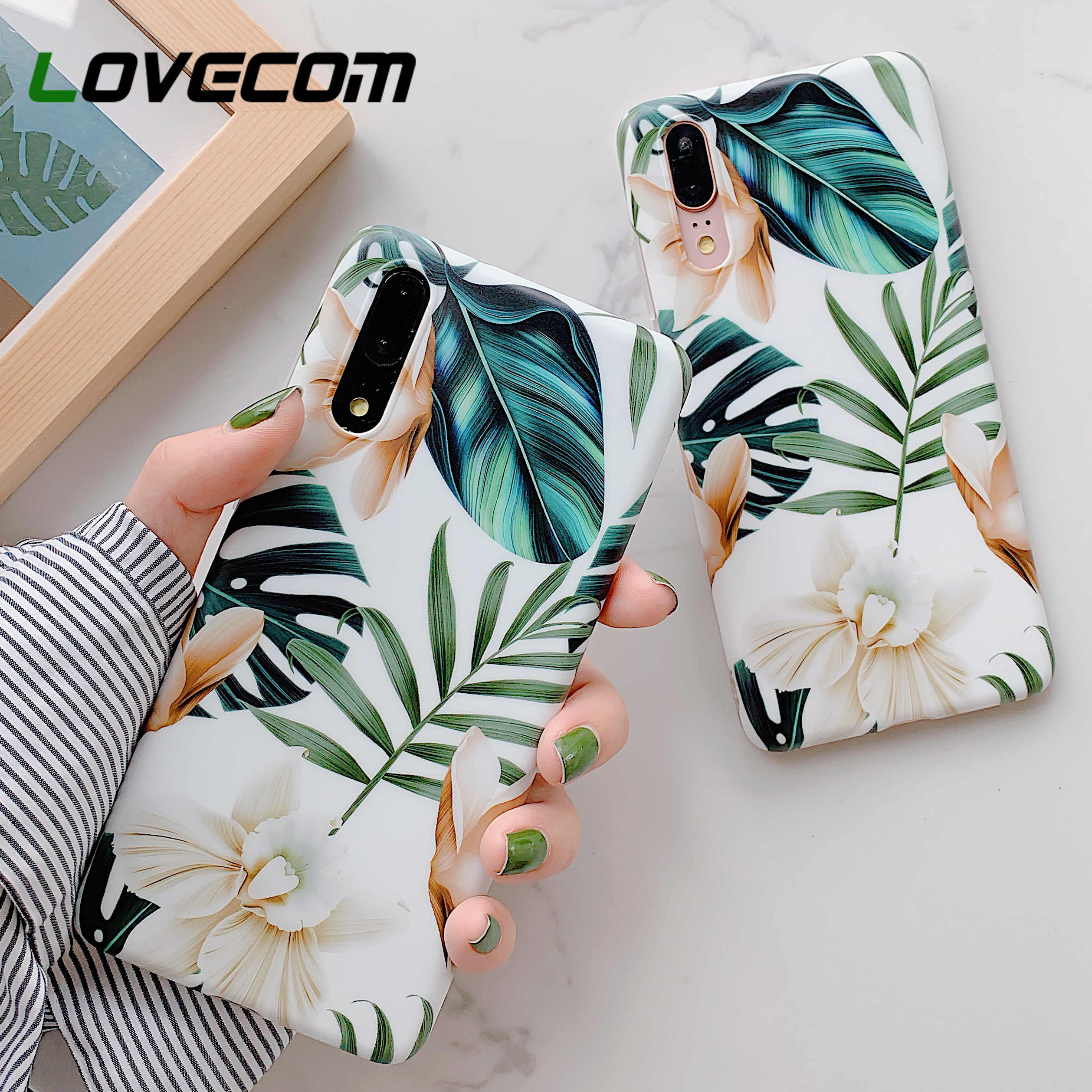 LOVECOM Hot Vintage Flower Banana Leaf Phone Cases For Huawei P20 P30 Pro Lite Mate 20 Lite Soft IMD Full Body Back Cover Gifts