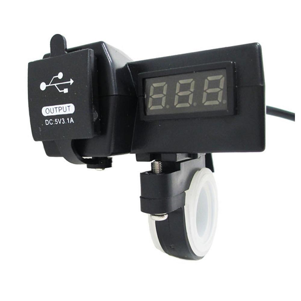 12V 24V motocyklové auto ATV čtyřnásobná USB nabíječka LED - Příslušenství a náhradní díly pro motocykly