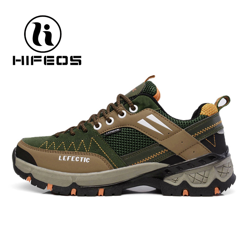 HIFEOS 2017 men's outdoor hiking shoes new autumn and winter non-slip sports cross-country sneakers comfort breathable boot M082 dreambox 2017 autumn and winter trends in europe and america woven leather breathable shoes in thick soled sports shoes men