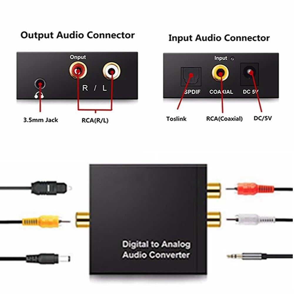 3,5mm Digital zu Analog Audio Konverter Verstärker Decoder Optische Fiber Coaxial Signal Analog Stereo Audio Adapter
