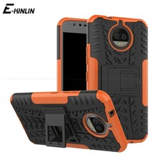 Silicon Plastic Armor Cover Shockproof Rugged Kickstand Case For Motorola Moto G7 G6 G5 G5S E5 E4 G4 Plus X4 Z Z2 Z3 Play(China)
