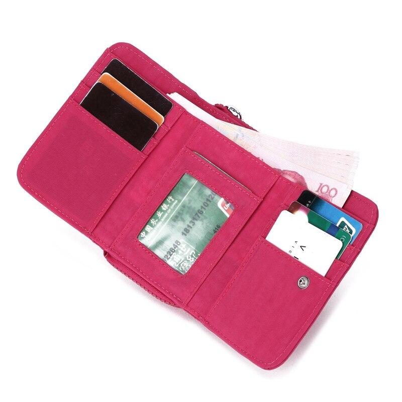 short wallet waterproof purse nylon women's wallets money bag thress sizes slim wallet