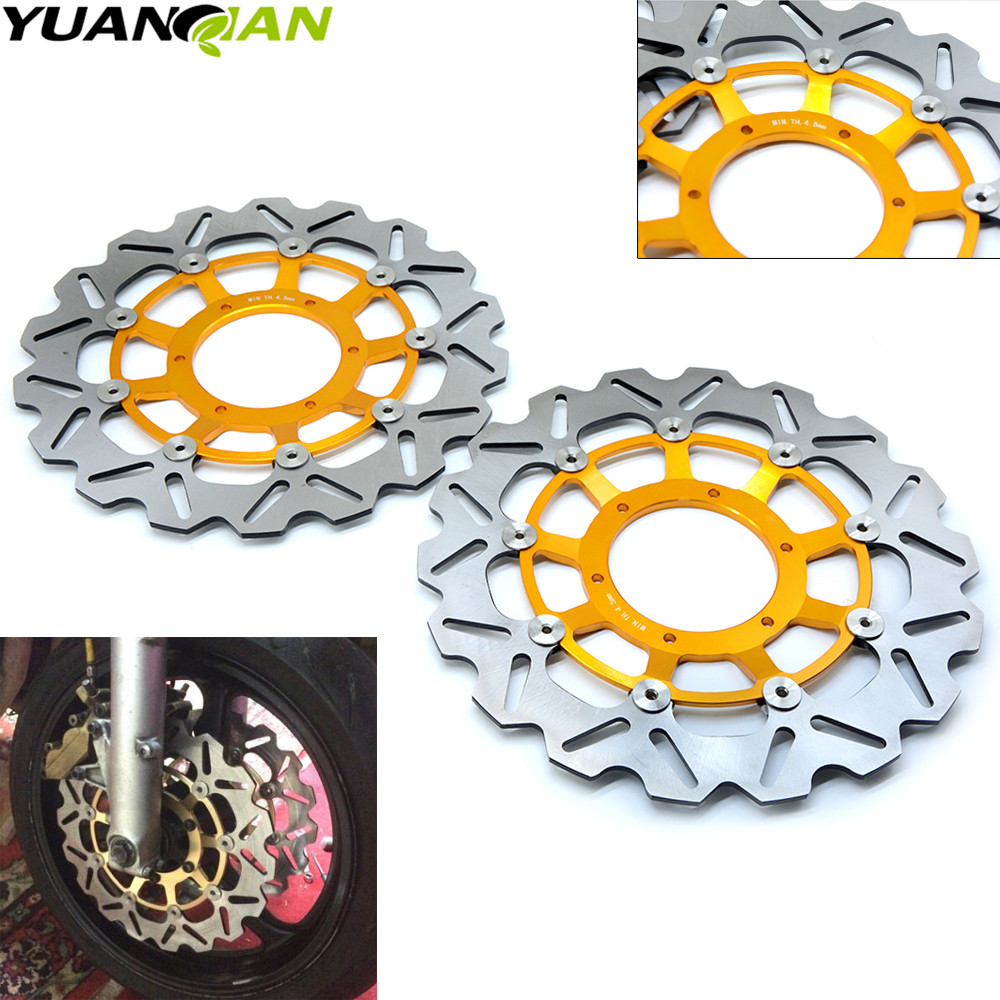 For Honda CBR600RR 03-14 CBR1000RR 04 05 CB1300 03-09 Motorcycle Front Floating Brake Disc Rotor CBR 600 600RR 1000 RR 1000RR one pair high quality motorcycle cbr1000rr front floating brake disc rotor for honda cbr1000rr cbr 1000rr cbr 1000 rr 2004 2005